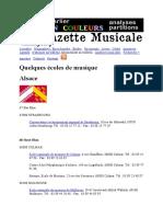 Ecoles de musique france