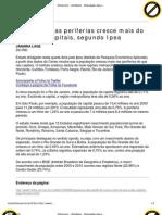 Folha.com - Cotidiano - População das periferias cresce mais do que a das capitais, segundo Ipea