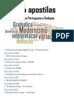 74 APOSTILAS DE LÍNGUA PORTUGUESA E REDAÇÃO