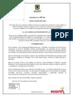 Decreto Nueva Realidad Bogota