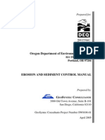 Erosion and Sediment Control Manual