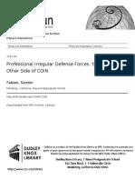 SANDOR FABIAN THESIS. GUERRA IRREGULAR tesis defensa guerra iregular