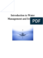 Module Introduction to Water Management and Irrigation.docx