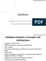 BPA DBMS Chapter2 - Database architecture