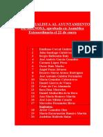 Lista Socialist A Al Ayuntamiento de Reinosa