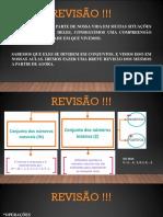 AULA 2 - Revisão !!! MATEMATICA FUNDAMENTAL