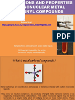 Preparations and Properties of Mononuclear Metal Carbonyl Compounds