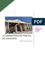 la Administración Pública de Honduras AA