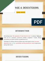 Lec-04 & 05 =Draiage & Dewatering