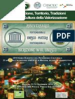 PROGRAMMA convegno 25 anni Matera iscritta al Patrimonio Mondiale UNESCO