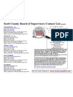 Scott County Board of Supervisors Contact List