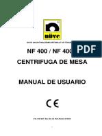 CENTRIFUGA MANUAL DE USUARIO SP