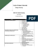 Course Outline NCM 105