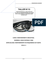 T13 Determinación de fallas en Transmisión por fajas en V