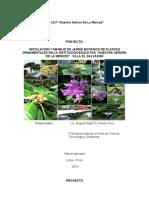 PROYECTO Instalación y Manejo de Jardín Botánico de Plantas Ornamentales