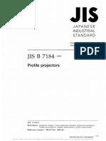 NORM#22. JIS B 7184.1999 Proyectores de perfiles
