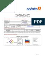 FICHA TECNICA (AGUA DESMINERALIZADA)
