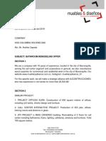 Proposal 2 - Cafeteria ENG - Muebles y Diseños