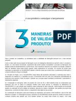 03 maneiras de validar seu produto e antecipar o lançamento