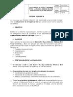 013. SISTEMA DE ALERTA Y RONDA MEDICA