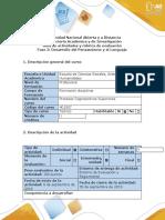 Guía de actividades y Rubrica evaluacion - Fase 2 Desarrollo del Pensamiento y el Lenguaje