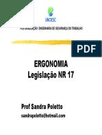 aula 1 ergonomia legislacao NR17 [Modo de Compatibilidade]