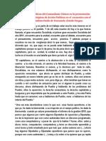 Orientaciones políticas del Comandante Chávez en la presentación de las Líneas Estratégicas de Acción Políticas en el  e
