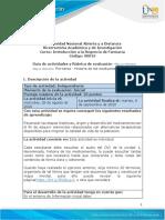 Guia de actividades y Rubrica de evaluacion -  Pre - tarea- Historia de los medicamentos