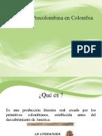 Literatura Precolombina en Colombia IR