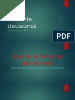 Clase 1. Toma de decisiones
