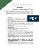 Newsletter 12.01.2011 Mc