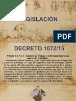 Legislacion de Accidentes, Incidentes y enfermedades Laborales