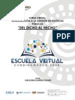 CARTILLA DEL DICHO AL HECHO