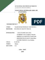 INFORME PREVIO N° 4 TALLER DE ELECTRICIDAD