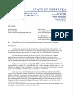 Medical Cannabis Initiative Determination Letter 2020