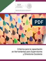 Criterios a atender durante las capacitaciones de Observación de clase y Exploración de habilidades de lectura, producción de textos y cálculo mental