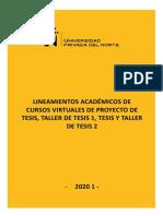 Lineamientos TALLER DE TESIS_UPN_2020-1