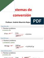 Sistemas de conversion