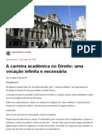 4- A carreira acadêmica no Direito - uma vocação infinita e necessária.pdf