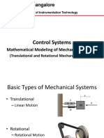 Lect 3 Transfer function of Mechanical Systems