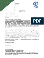 FUTBOL PARA NIÑAS - SOLICITUD DE APOYO  DE TRANSPORTE Y ALIMENTACIÓN