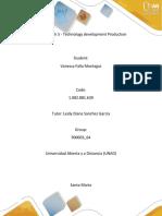 Unit 3 - Task 5 - Technology development Production-Vanessa falla