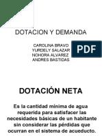 DOTACION Y DEMANDA