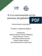 Comunicación en los procesos de globalización