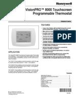 Honeywell Visionpro 8000 Install Instructions Thermostat