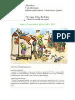 Plan Pastoral Parroquial, Juntos Contruimos Parroquia 2020