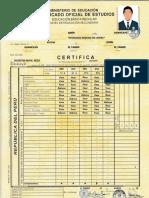 certificado de estudio