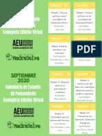 Calendario Escuela Ecologista 2020