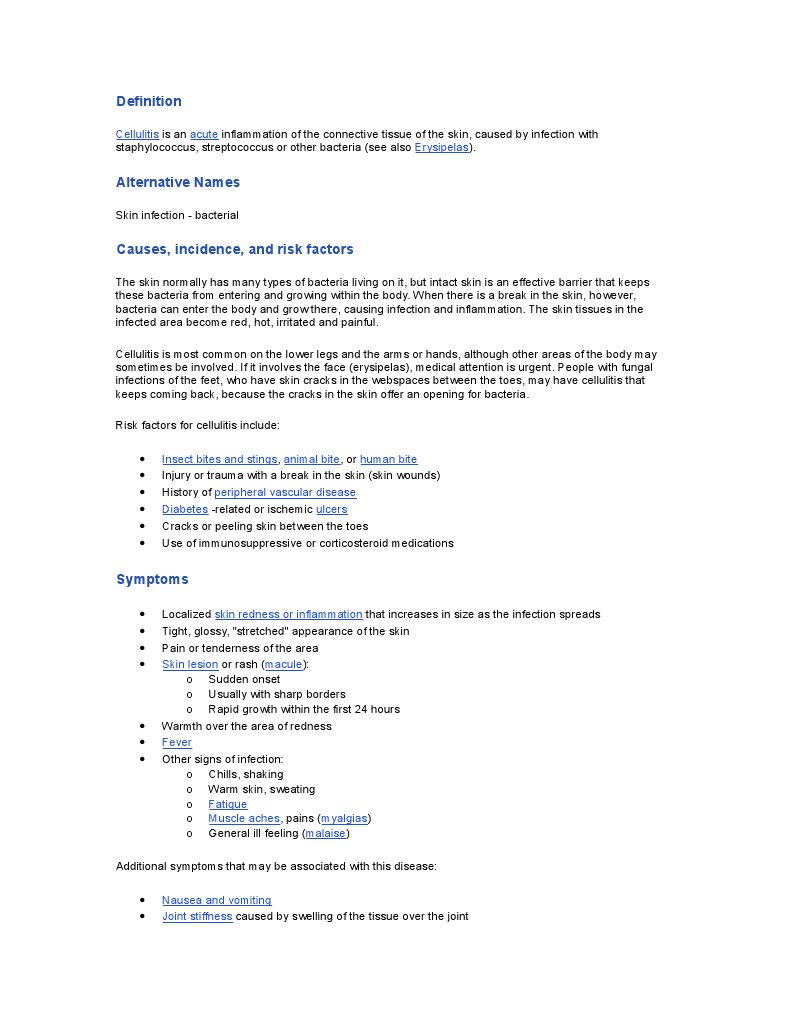 3837754-Cellulitis | Infection | Public Health