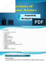 Reactions of Aromatic Amines